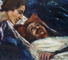 """Moon River"" Meher Baba and Mehera (Baba in the Hammock) (1973-1982)"