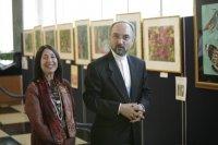 Ambassador Khazaee came to see my exhibition