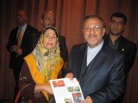 dinner where I met President Ahmedinejad- Hilton Hotel, Foreign Minister Mottaki