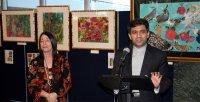 Mansour introducing laurie UN reception speech