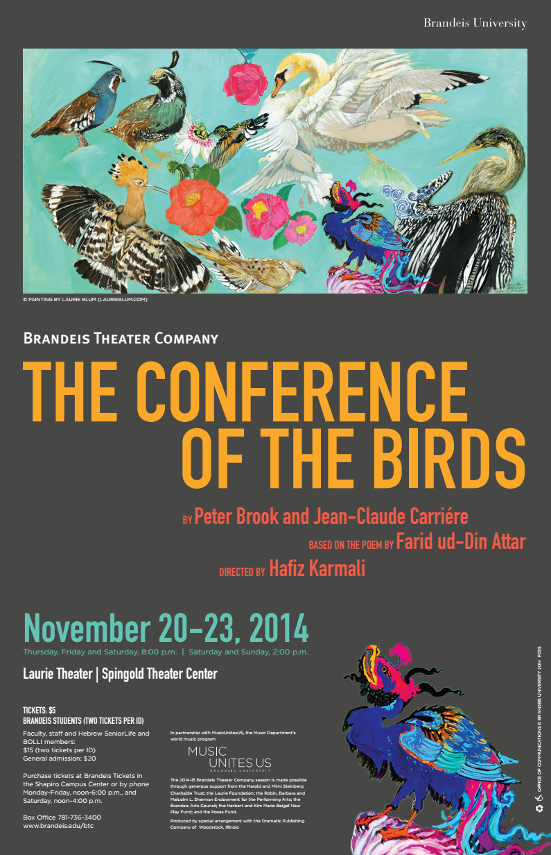 The Conference of the Birds at Brandeis University